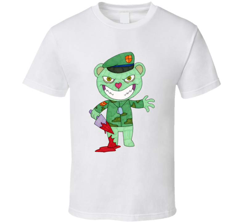 Evil Flippy The Happy Tree Friends ef552w T Shirt