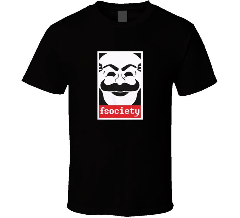 Mr Robot Anonymous Mask Fsociety T Shirt