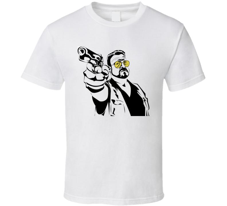 Big Lebowski Dude Stencil T Shirt