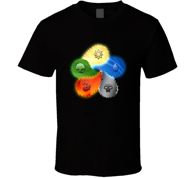 Magic The Gathering Mana Symbols T Shirt