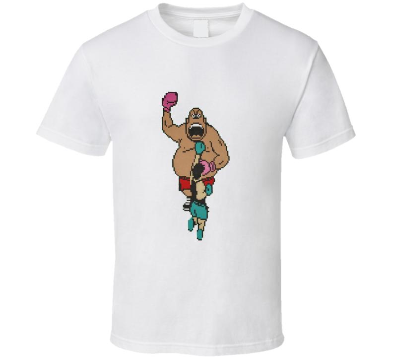 Little Mac Vs King Hippo 8 bit T Shirt