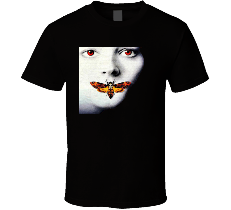 Silence Of The Lambs Butterfly Moth Logo T Shirt