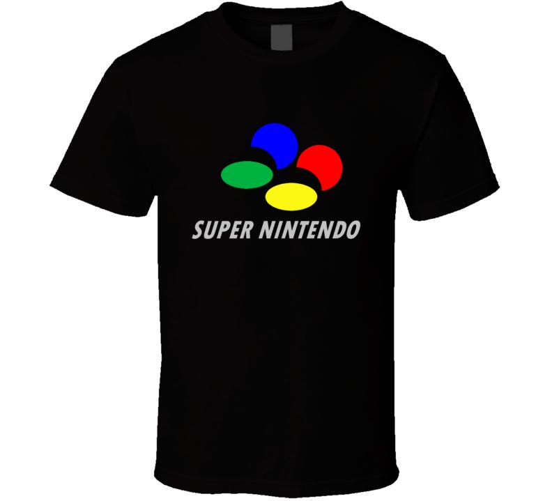 Super Famicom Super Nintendo Logo T Shirt