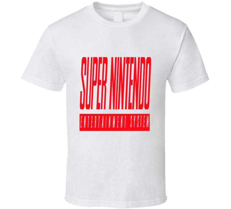 Super Famicom Super Nintendo Custom Logo T Shirt