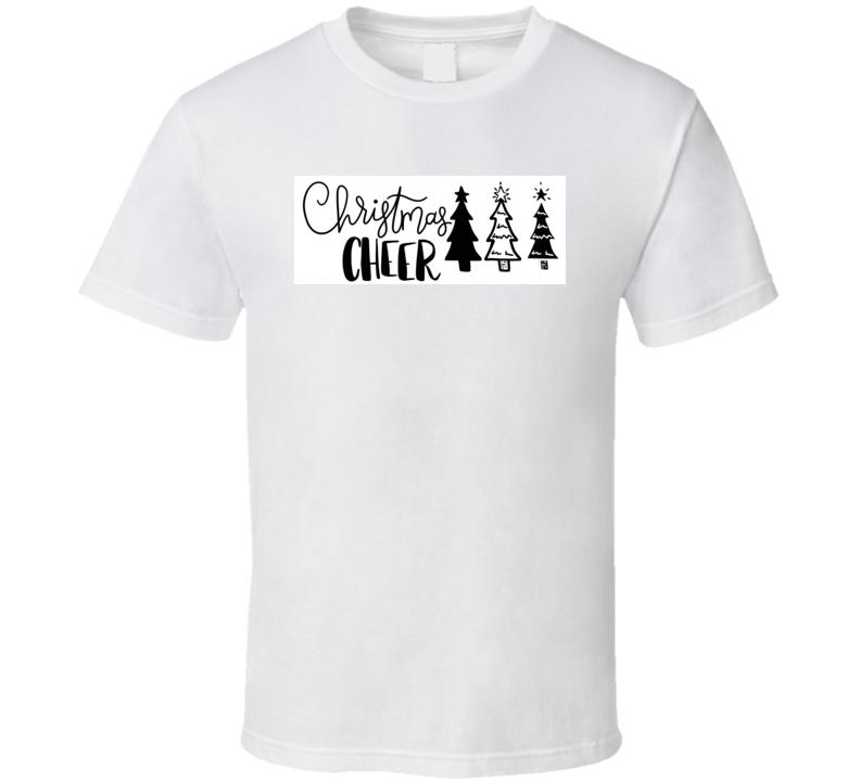 Christmas Cheer Hand Lettered  T Shirt