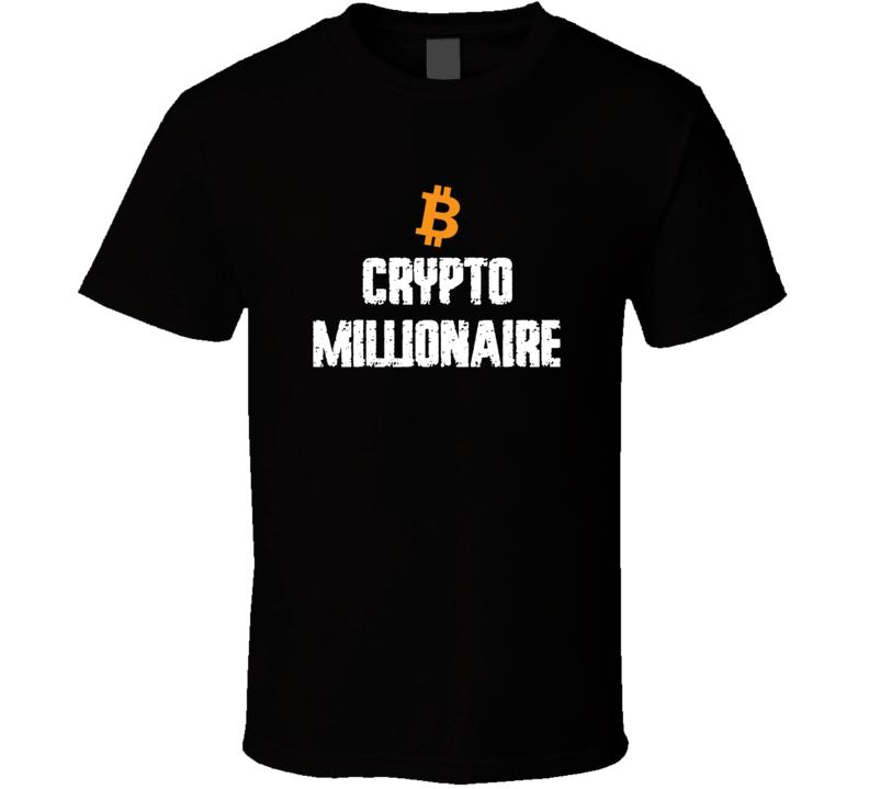 Crypto Millionaire Btc S-6xl T Shirt