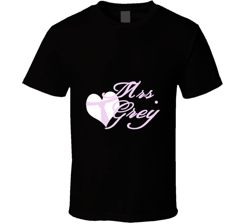 Mrs. Grey Fifty Shades of Grey Novel T Shirt