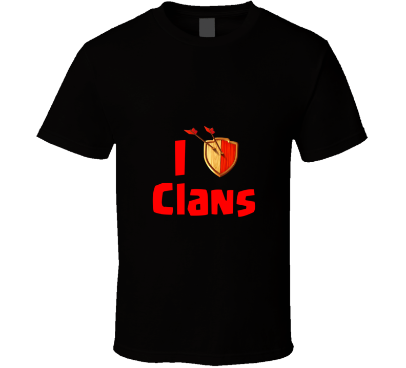 I Heart Clans Clash iPhone App Game T Shirt