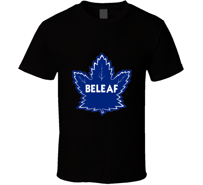BELEAF Toronto Maple Leaf Hockey Playoff T Shirt