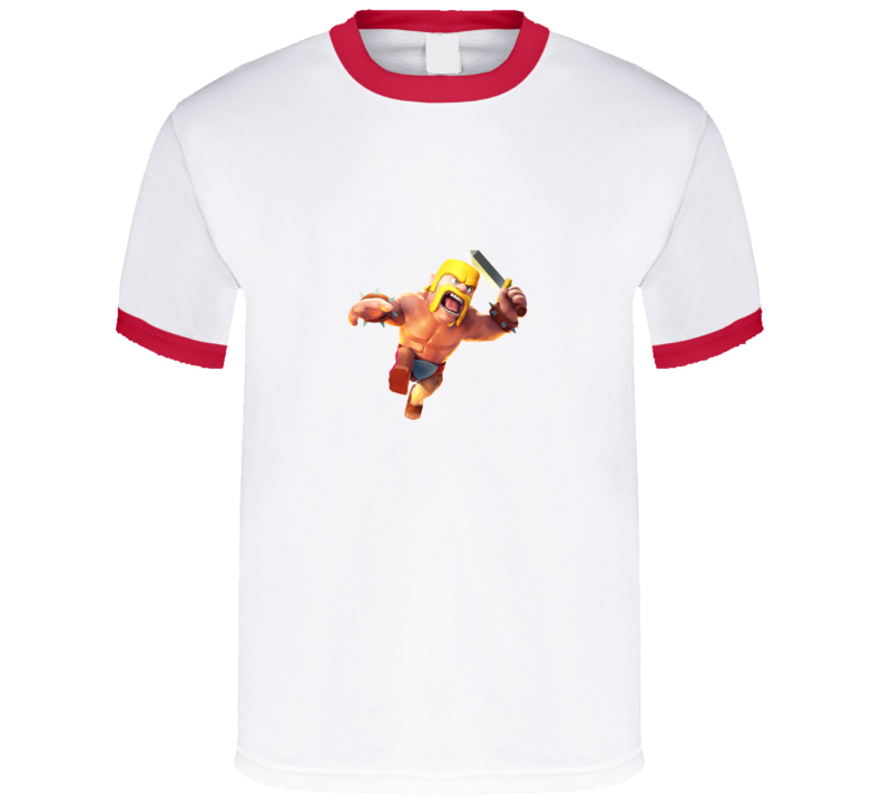 Clash of Clans Barbarian Full Body Red Ringer App T Shirt