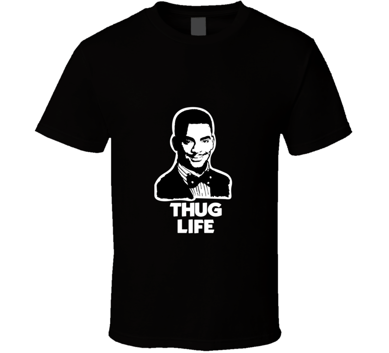Carlton Banks Thug Life Fresh Prince of Bel-Air 90's TV Show T Shirt