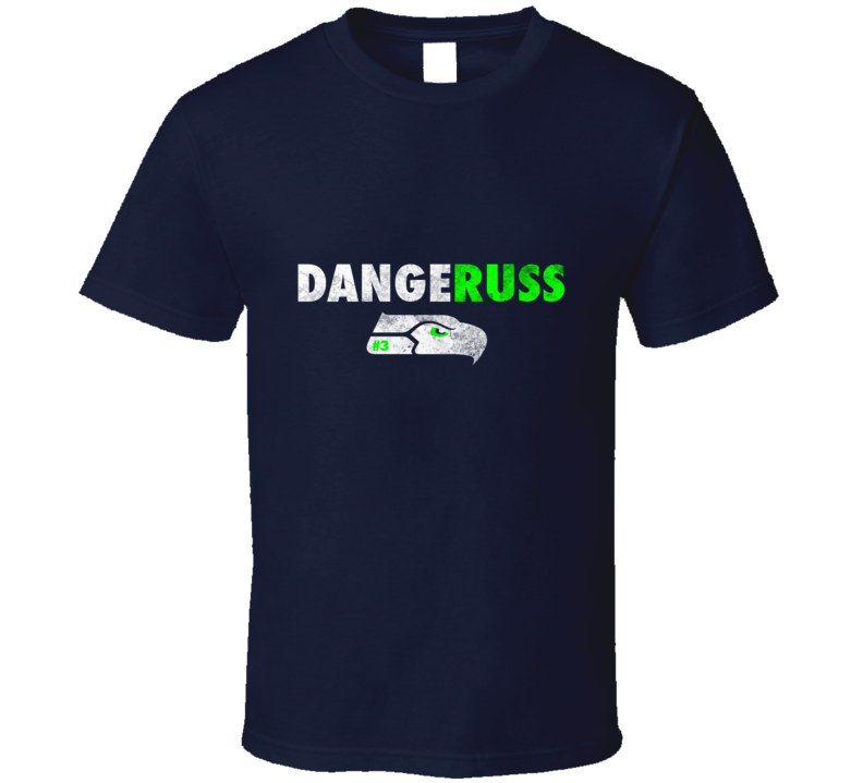Dangeruss Russel Wilson Seattle Seahawk Football  T Shirt