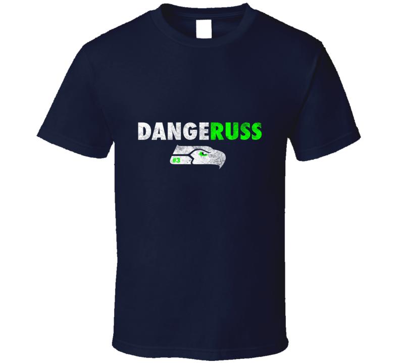 Dangeruss Russel Wilson Seattle Seahawk Football  T Shirt