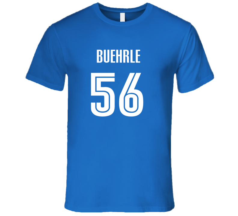 Mark Buehrle Toronto Baseball Number 56 Jersey Style T Shirt
