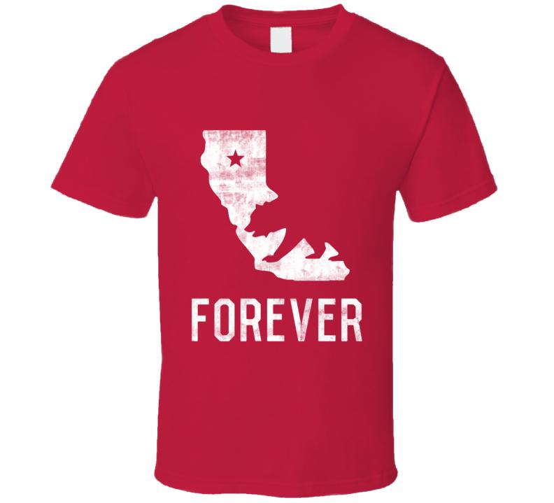 California Forever Love Patriotic State Flag T Shirt