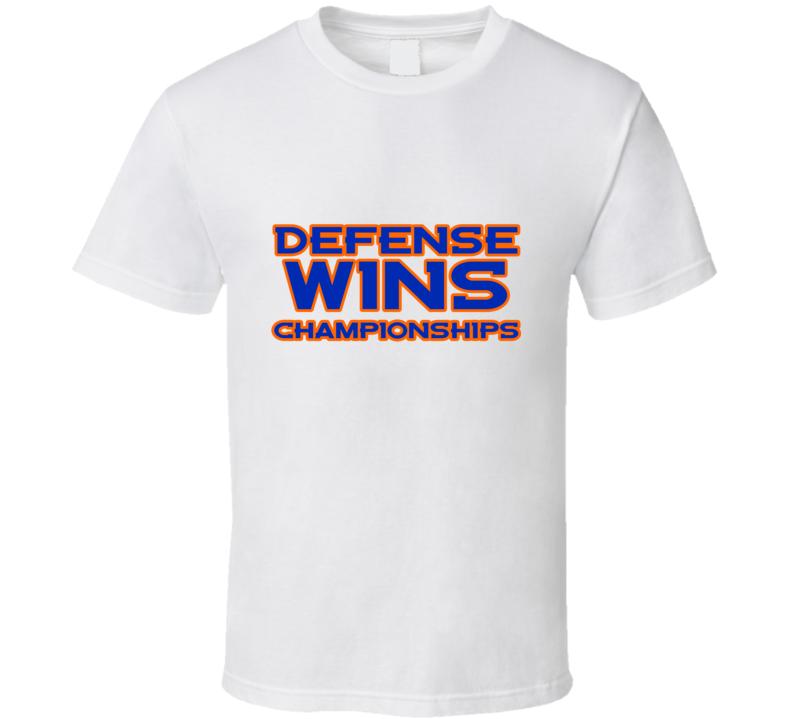 Defense Wins Championships Broncos Football Winning MVP  T Shirt