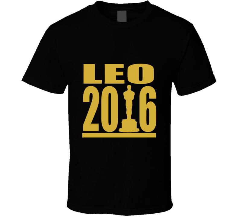 Leo 2016 Leonardo DiCaprio Oscar Movie Film T Shirt