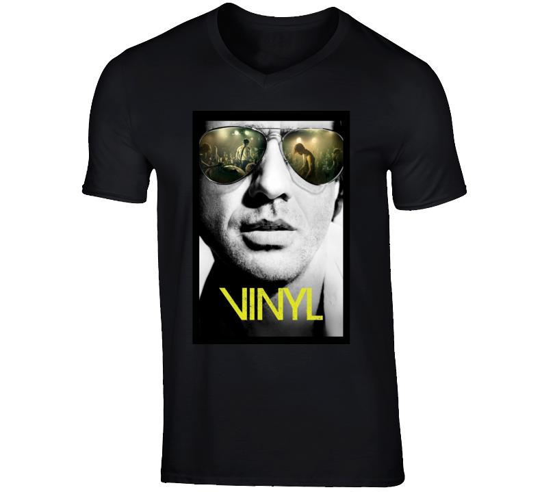 Vinyl TV Series 70's Record Music Jagger Scorsese Inspired T Shirt