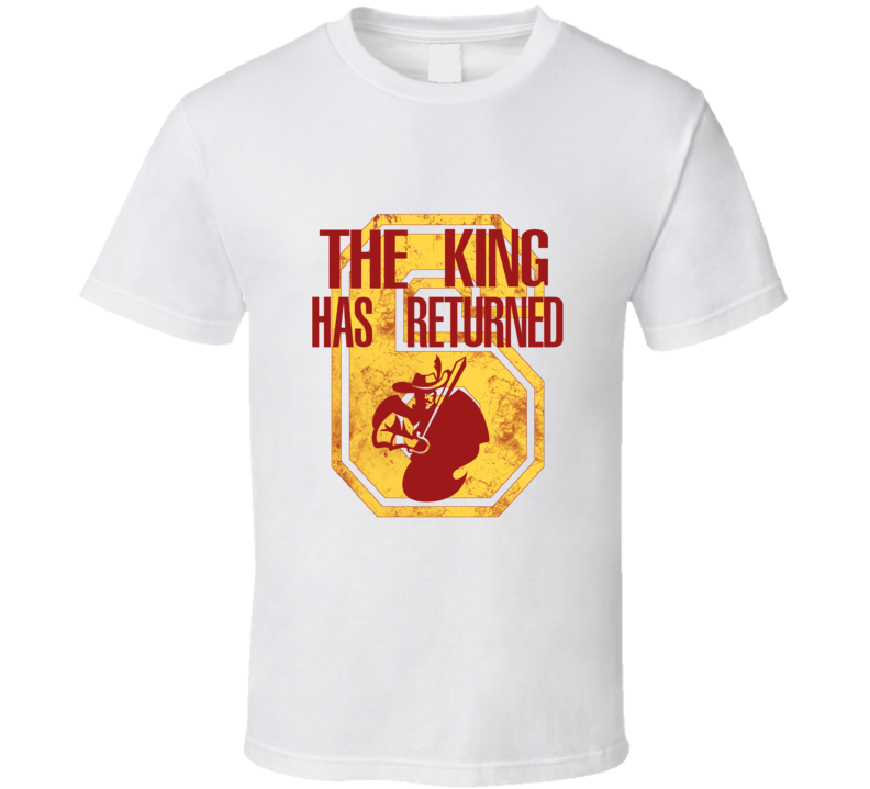 The King Has Returned James Cleveland Basketball  T Shirt