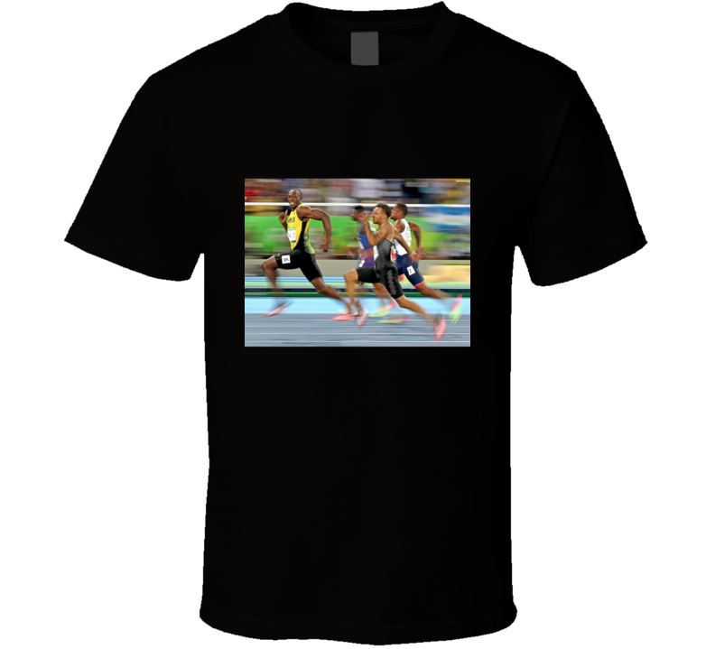 Bolt Smiles, Usain Bolt Olympic Sprinter Racer Gold Medal Rio 2016 T Shirt