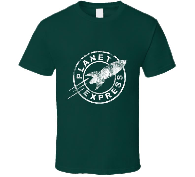 Planet Express Grunge Futurama Spaceship TV T Shirt