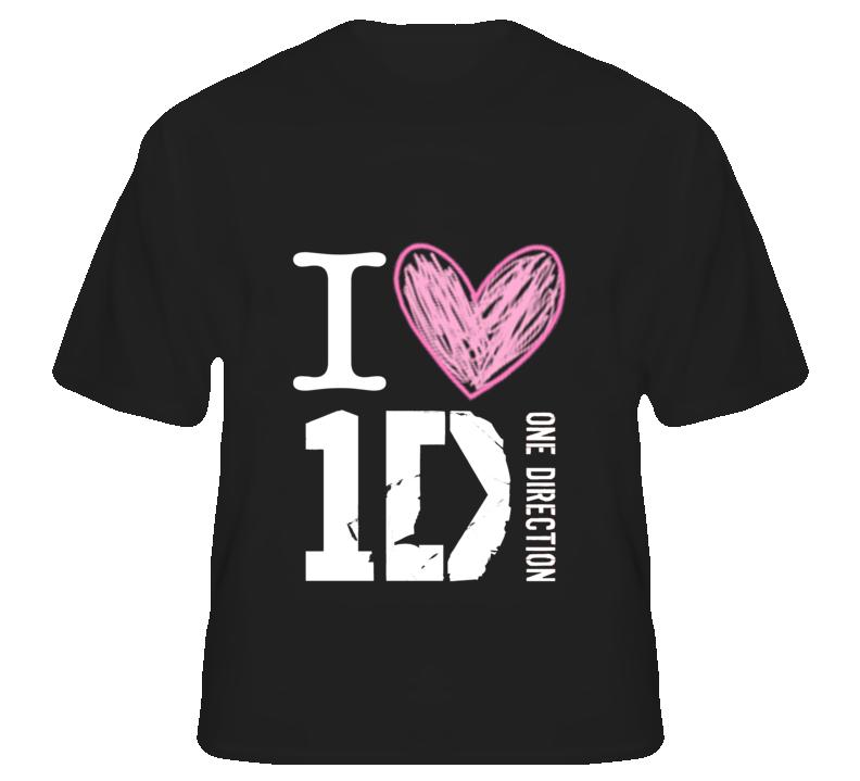 I Heart 1 D T Shirt