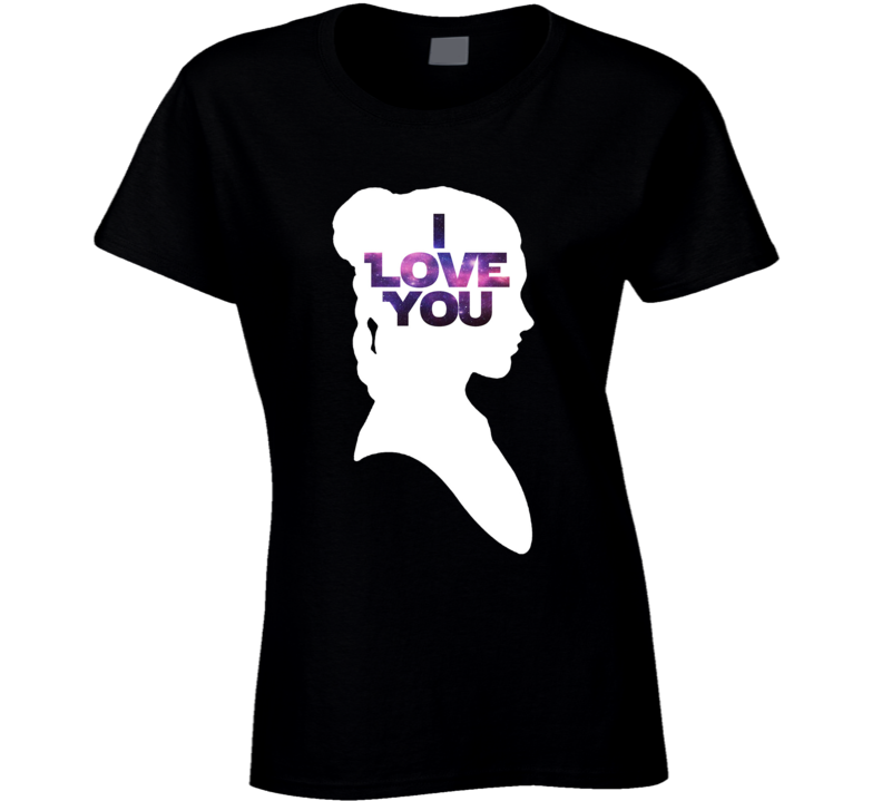 Star Wars Leia 'I Love You' Silhouette Couple T Shirt