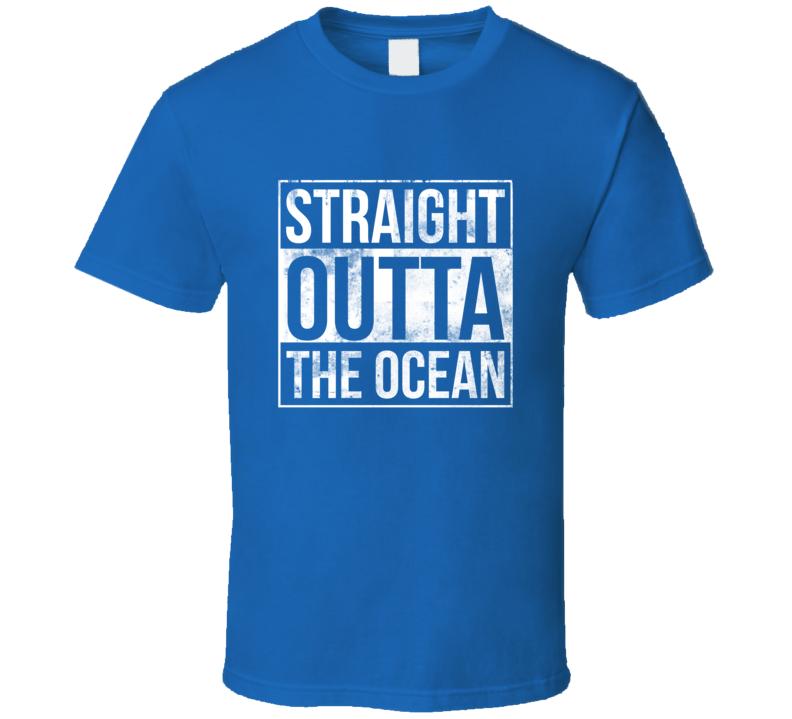 Straight Outta The Ocean Shark Week Fishing Diver Animal Sea Life T Shirt