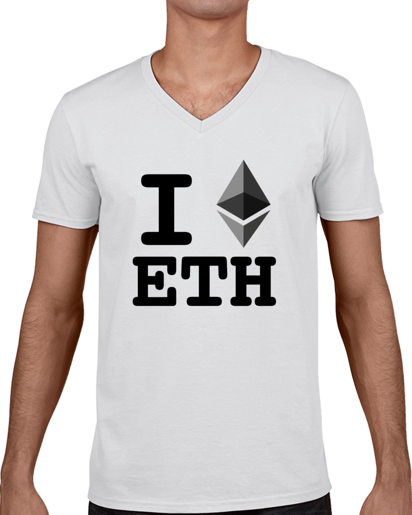 I Heart Ethereum Cryptocurrency Online Investment T Shirt