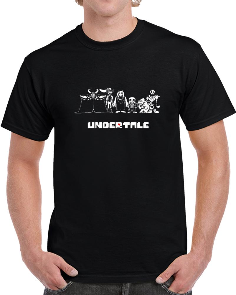Undertale Character Rpg Video Game Flowey Papyrus Toriel Sans T Shirt