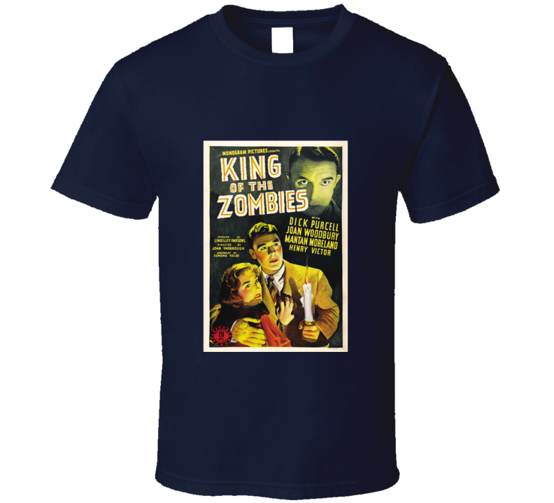 King of the Zombies Vintage Retro Horror Movie Poster T Shirt