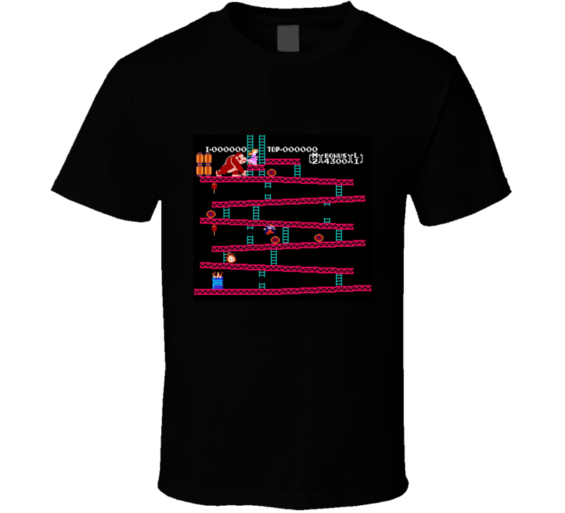 Original Donkey Kong Nintendo Level Retro Video Game T Shirt