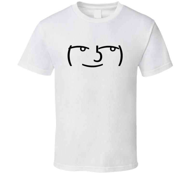 Lenny Face Funny Trending Popular Unicode Emoticon Meme  T Shirt