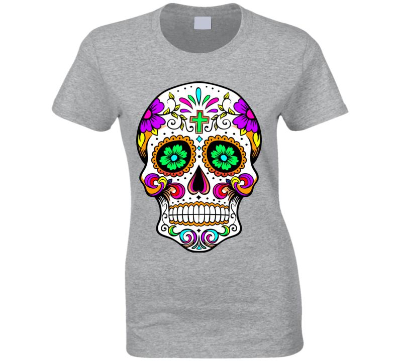 Sugar Skull Calavera Day of the Dead  T Shirt