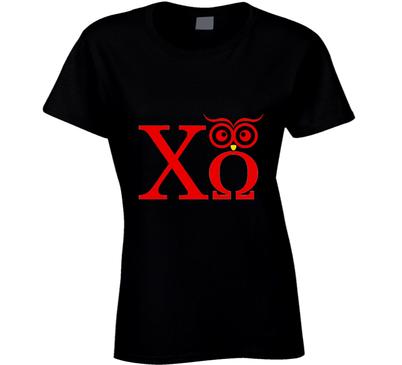 Chi Omega Owl Sorority College Humor  T Shirt
