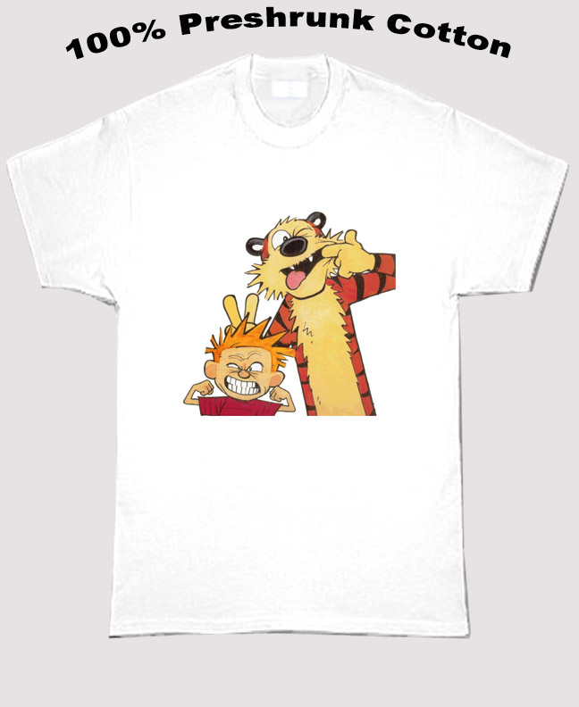 Calvin And Hobbes Tough Dudes T Shirt