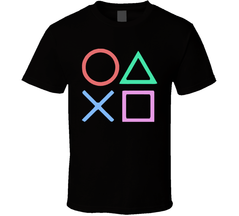 Playstation Gamer Buttons T Shirt