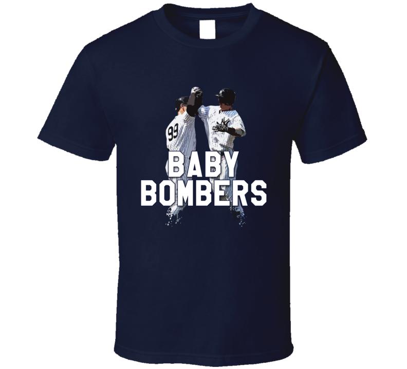 Baby Bombers Tyler Austin Aaron Judge New York NY Baseball Rookies T Shirt