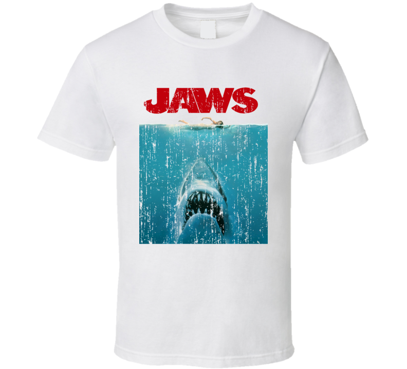 Jaws Cult Movie Poster Gord Downie Tragically Hip Vintage T Shirt