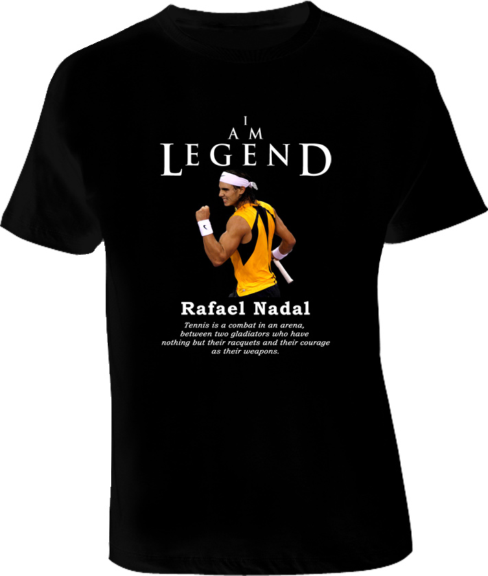 Rafael Nadal Legend Tennis T Shirt
