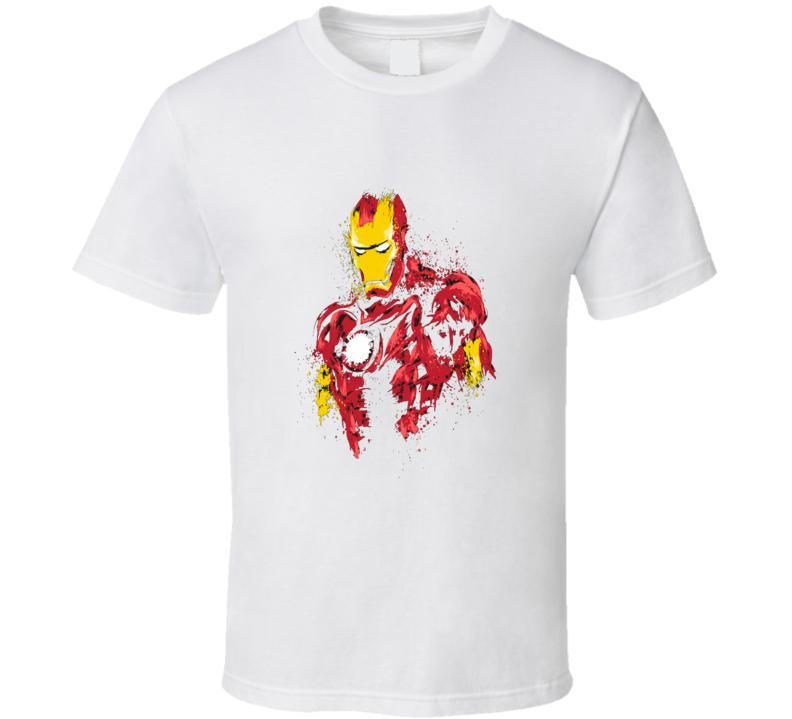 Ironman Superhero Fan Art Grunge T Shirt