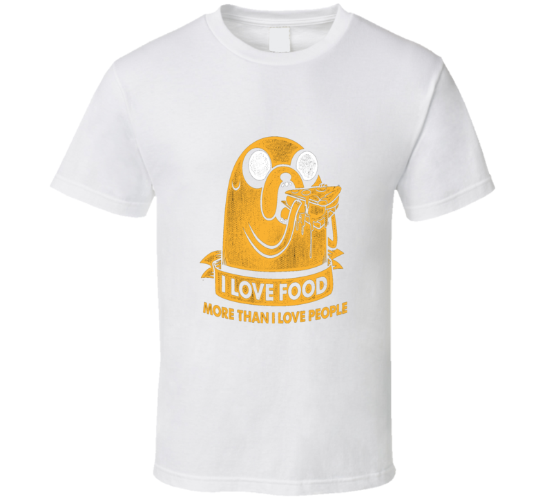 Adventure Time Jake I Love Food T Shirt