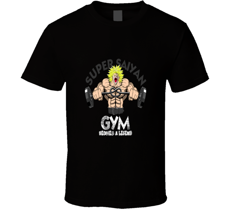 Dragon Ball Z Super Saiyan Muscle Gym T Shirt