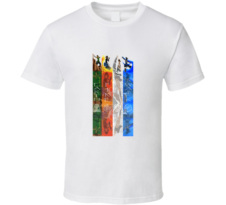 The Legend Of Korra Avatar Master Of All Four Elements Cool T Shirt
