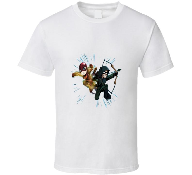 The Flash And The Arrow Cool Superhero T Shirt