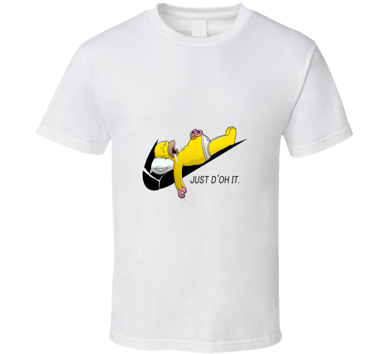 The Simpsons Homer Just Do It Nike Funny Moto T Shirt