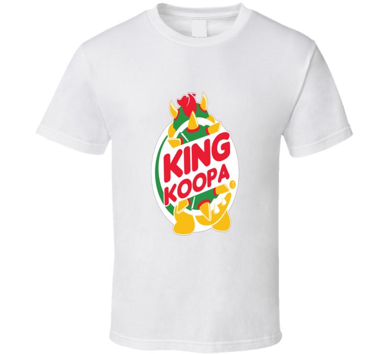 Super Mario King Koopa Troopa Burger King Funny T Shirt