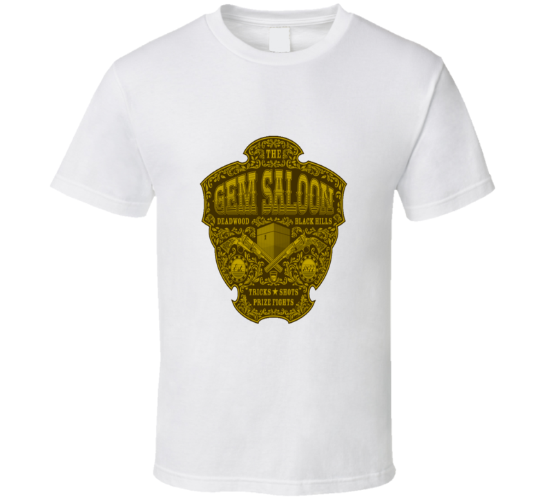 The Gem Saloon Deadwood Cool Symbol T Shirt