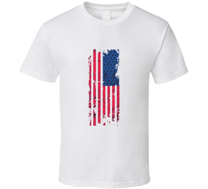 United States Grunge National Flag T Shirt