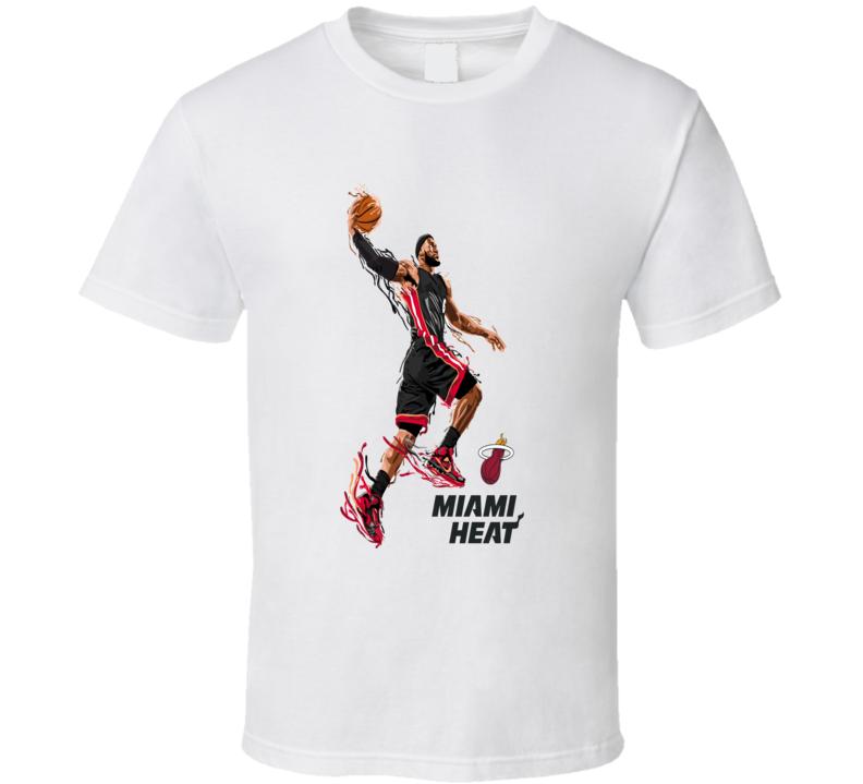 Lebron James Miama Heat Cool Basketball Dunk T Shirt